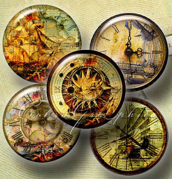 Digital Collage Sheet CG-265 Discovery Time 1 by CobraGraphics - time clock spreadsheet