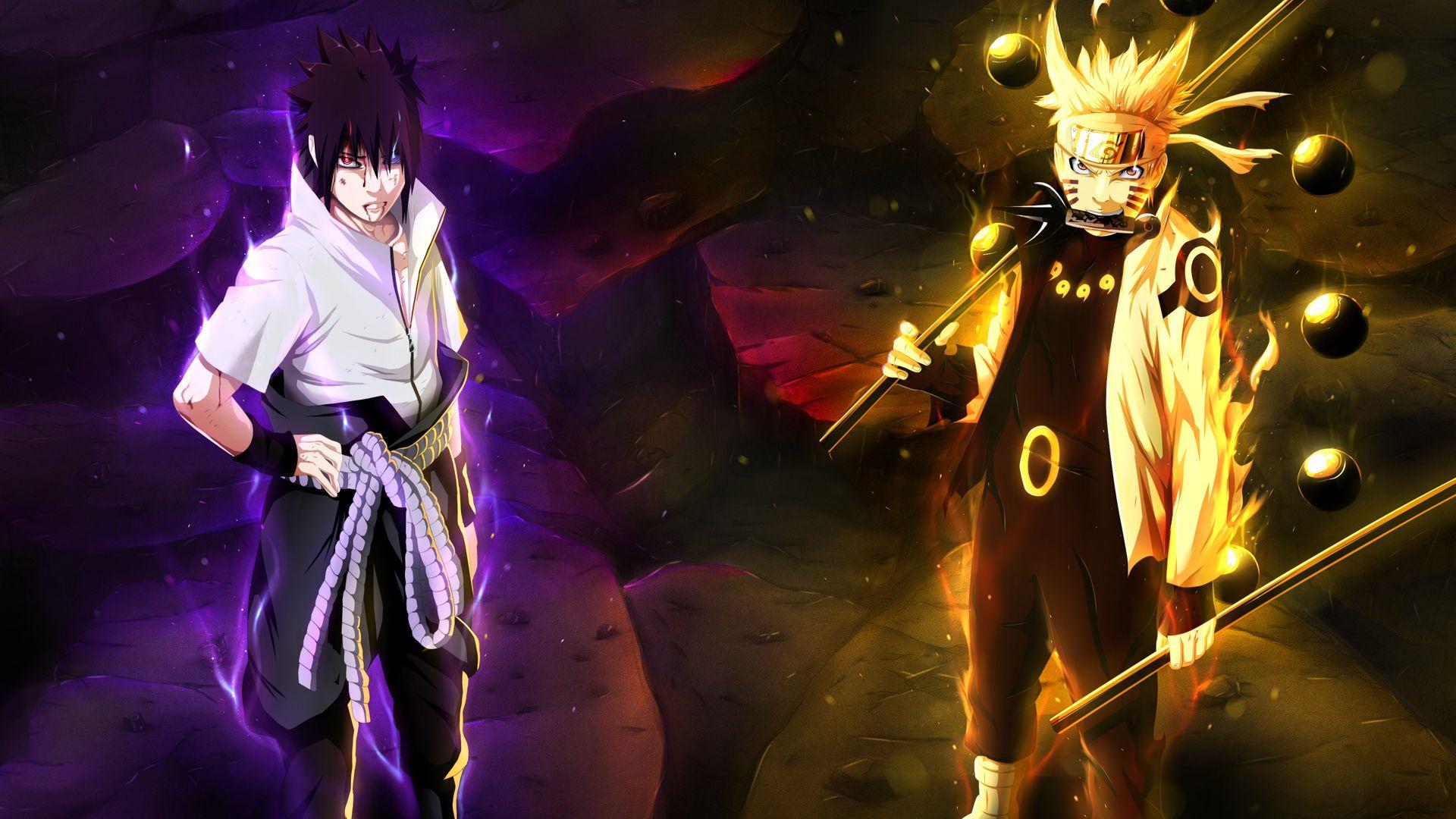 Naruto And Sasuke Six Paths Naruto Uzumaki Sage Of Six Path And