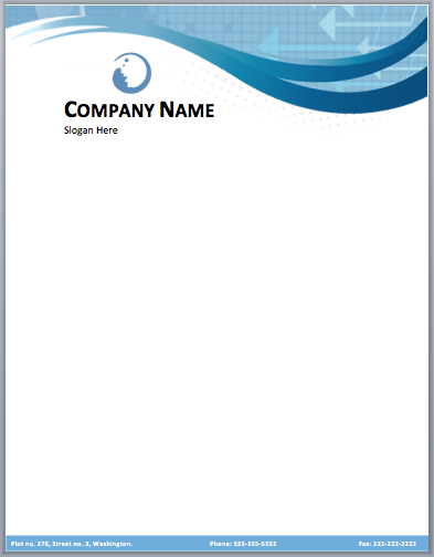 Business Company Letterhead Template - Free small, medium and large ...