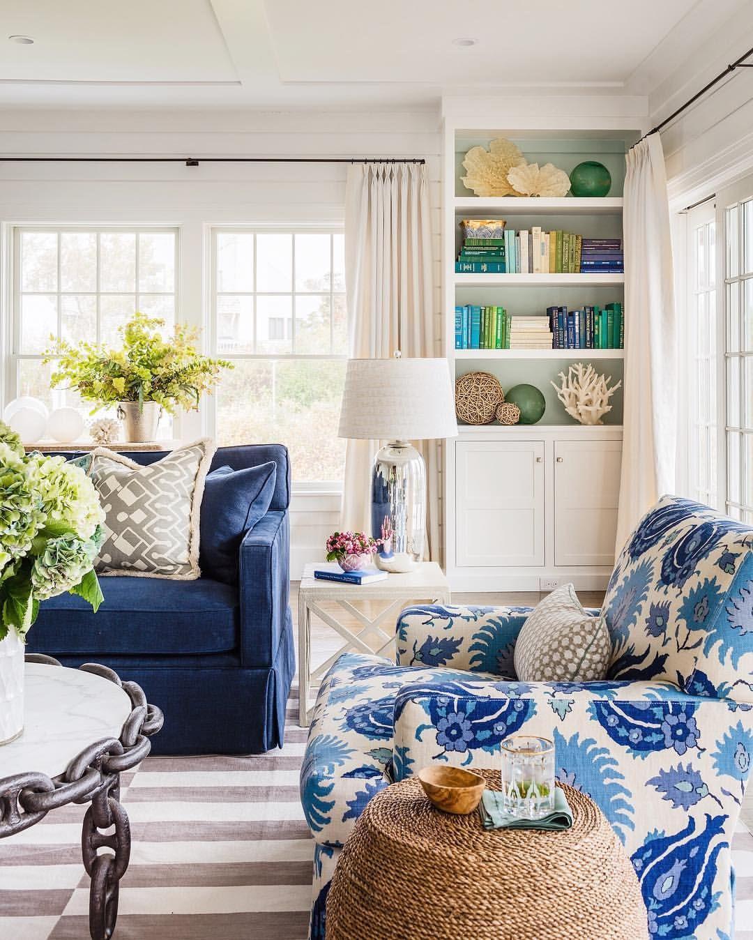 Cape Cod summer vibes 💙#tharonandersondesign | Living room ...