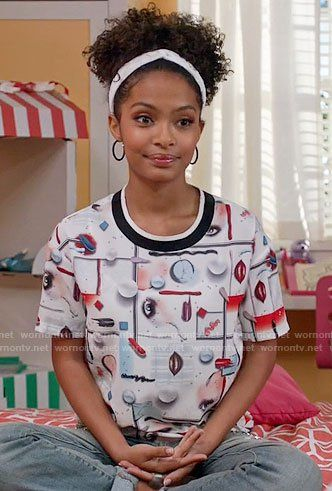 Black Ish Fashion At Wornontv Net Outfits Hair Styles Afro