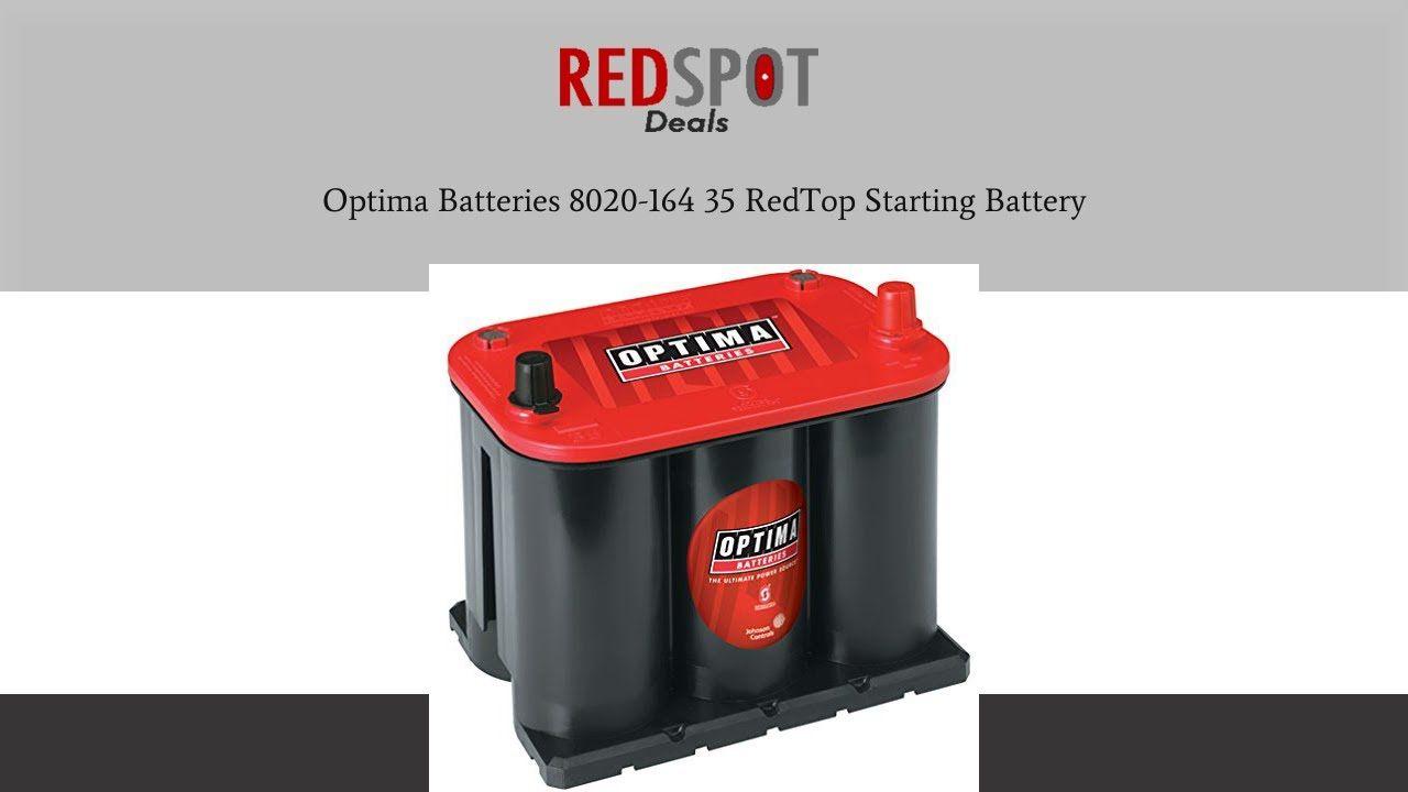 Discount optima batteries 8020164 35 redtop starting