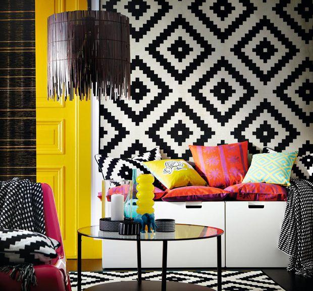 inspiration deco ethnique chez ikea home living room. Black Bedroom Furniture Sets. Home Design Ideas
