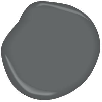 Charcoal slate benjamin moore pair with silver chain for Benjamin moore slate grey