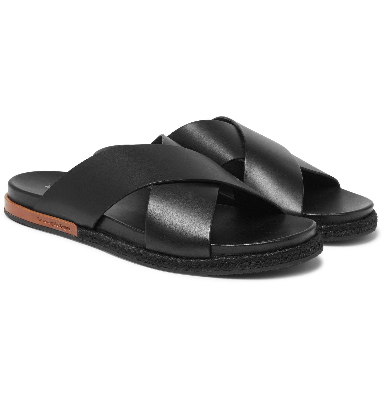 eadeaf4e85680 ERMENEGILDO ZEGNA Taormina Leather Sandals