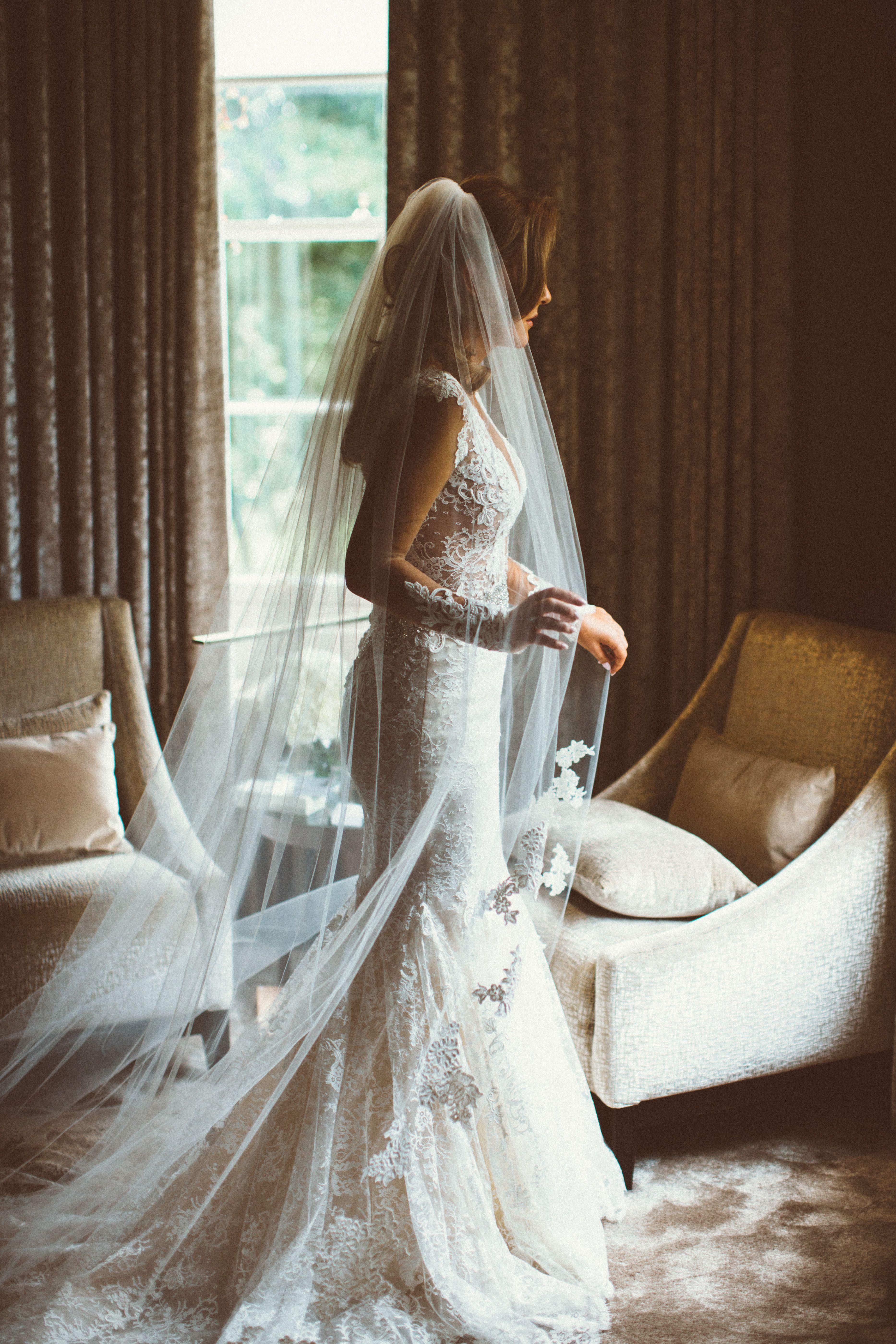 Bride Getting Ready Carlowrie Castle, Edinburgh