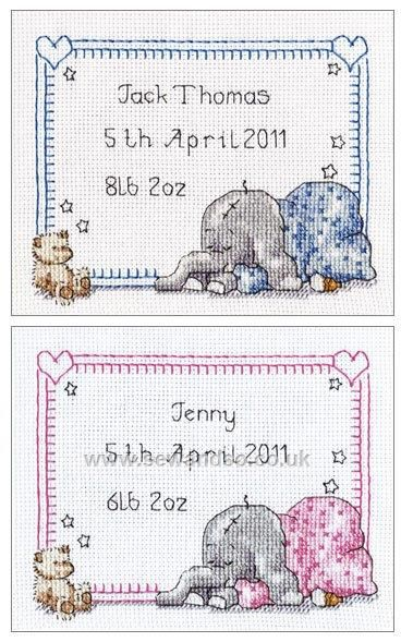 Shop Online For Sleepy Baby Birth Sampler Cross Stitch Kit