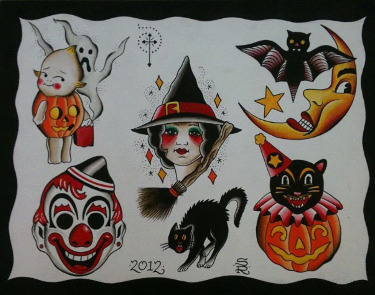 Pin by Randi Rathbun on Tattoo Halloween tattoo flash