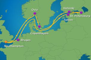 My Northern European Cruise Choice Night Baltic Cruise With - Baltic cruise