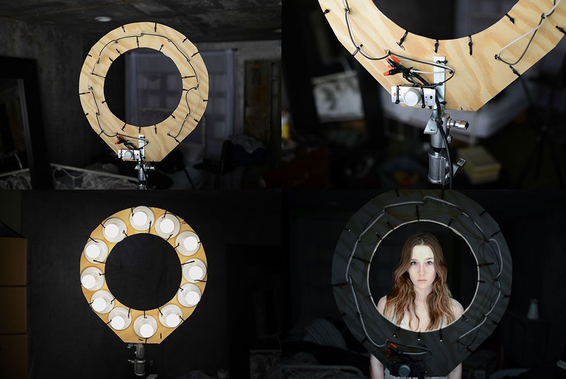 How to make your own ring light. take beautiful photos