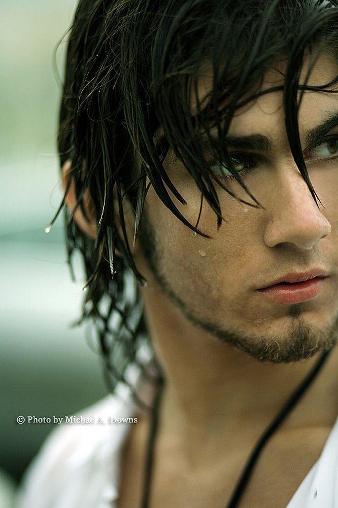 Aspen Handsome Boy Cartoon Model Long Hair Que Eu Adoraria Saber O Nome Dreamcast The Selection Black Hair Blue Eyes Character Inspiration Blue Hair