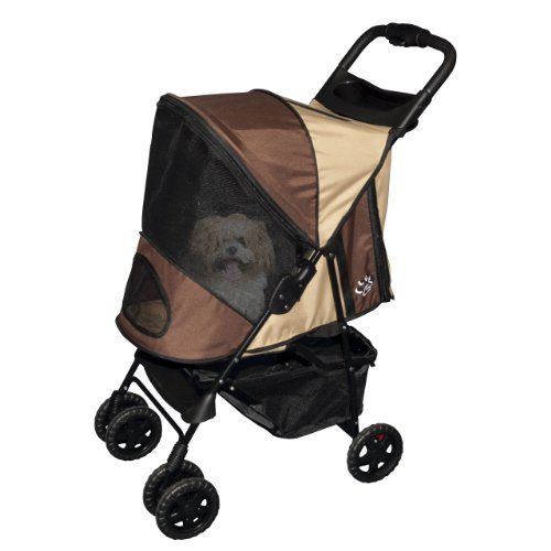 $89.93-$122.99 Pet Gear strollers are a great way to take your pet with you on a long walk through the park, a walk around the block, or maybe even shopping at the mall.  They safely contain and protect your pet wherever you go! The Happy Trails Plus stroller has a fashionable Euro-Canopy, removable weather guard, large storage basket, parent tray, waterproof interior pad, front swivel wheels, sh ...