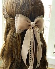 Pretty bow Hair Accessories. Hairstyles   Kenra Professional Inspiration  [ Antoine Di Savoia ]