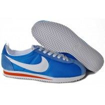 d9073efa044 Inimitable Nike Classic Cortez Nylon Homme Ocean Bleu Blanc Rouge Running  Chaussures-20