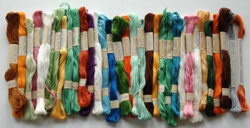 Skeins of Vintage Bucilla Boilproof Embroidery Thread