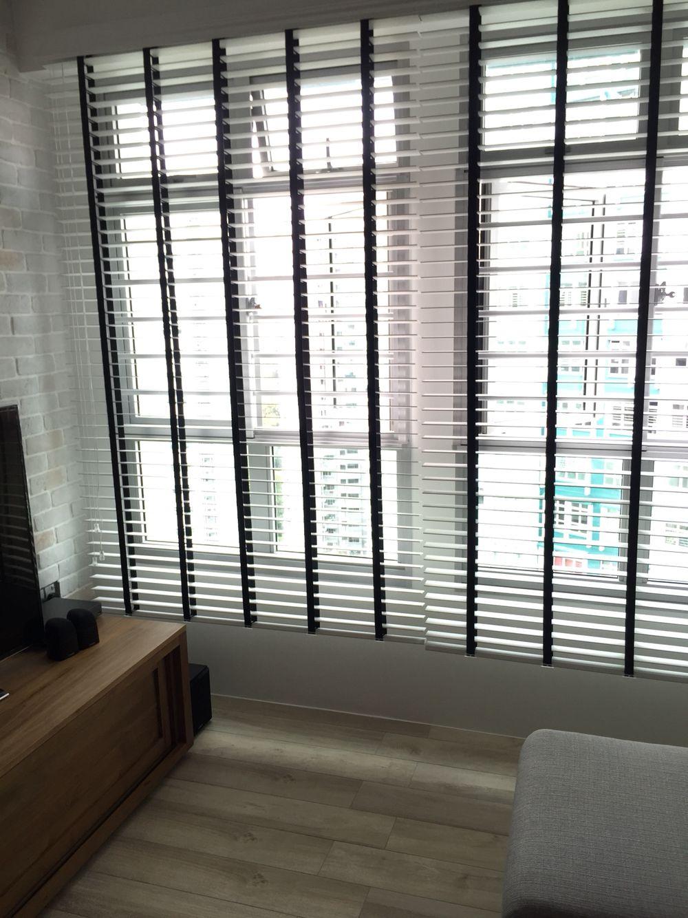White blinds black tape cool ideas pinterest white