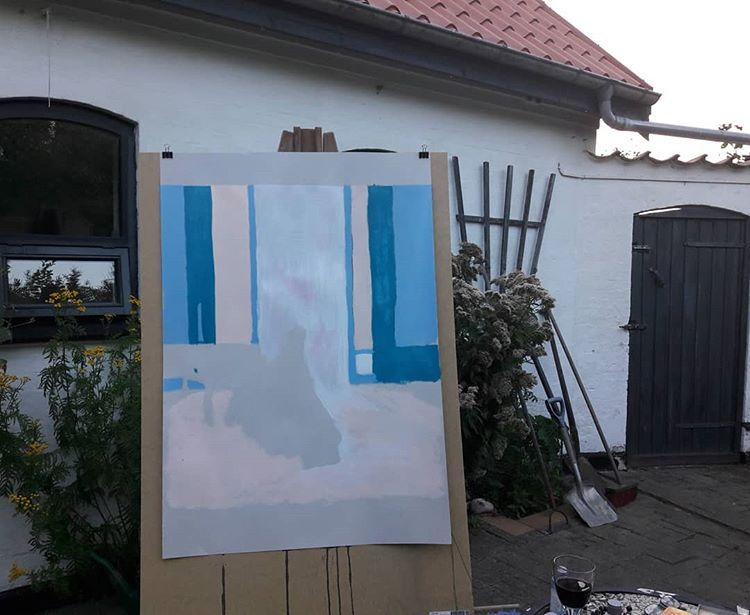 Its Finally Cooling Down A Bit So Its Possible To Paint Instaart Artist Artgallery Unika Sketch Art Galleri Pintura Painting Art Insta Art