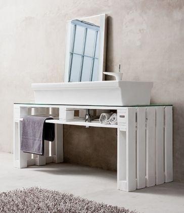 meuble salle de bain palette