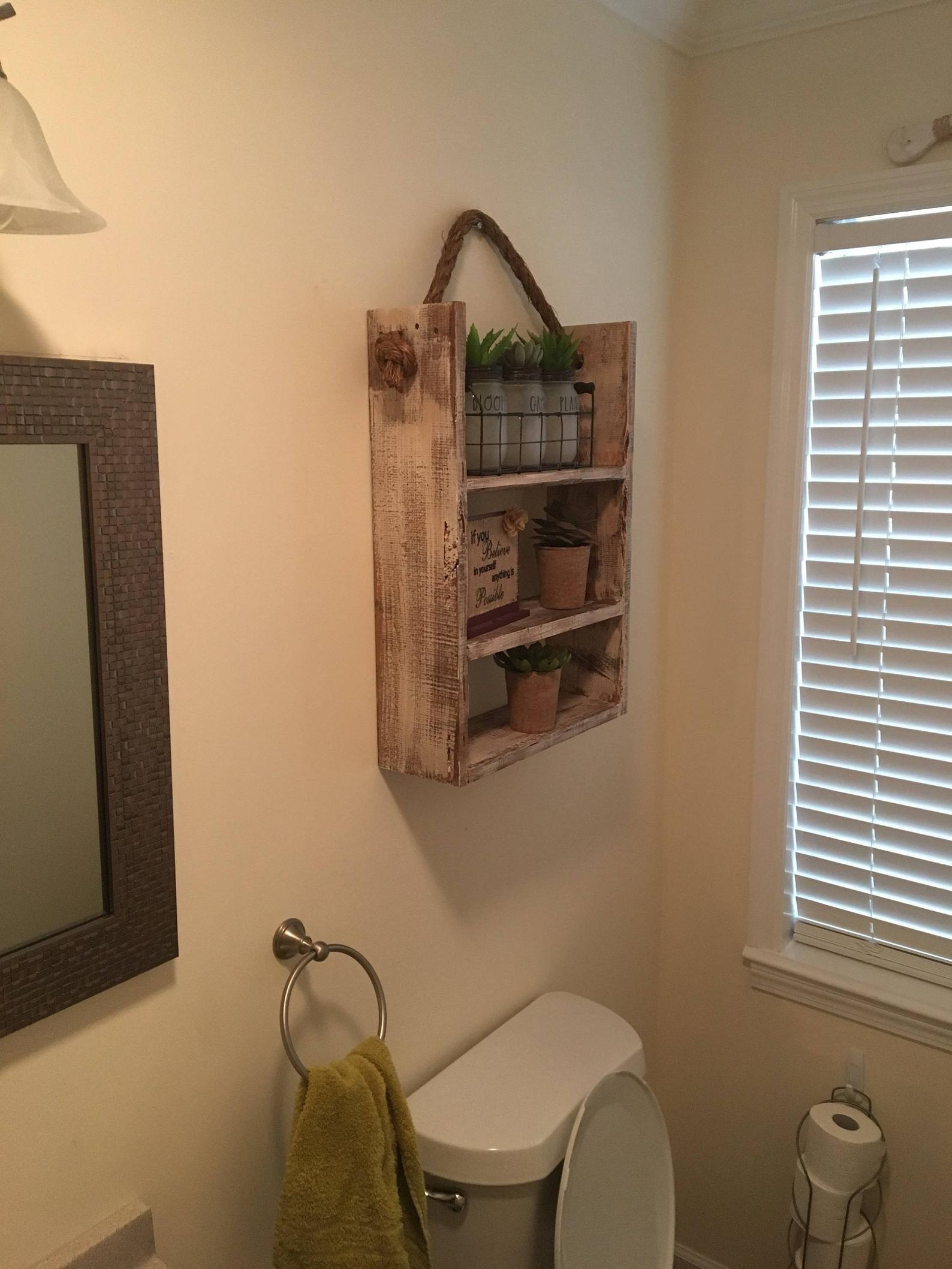 3 tier rustic bathroom shelf decor farmhouse furniture