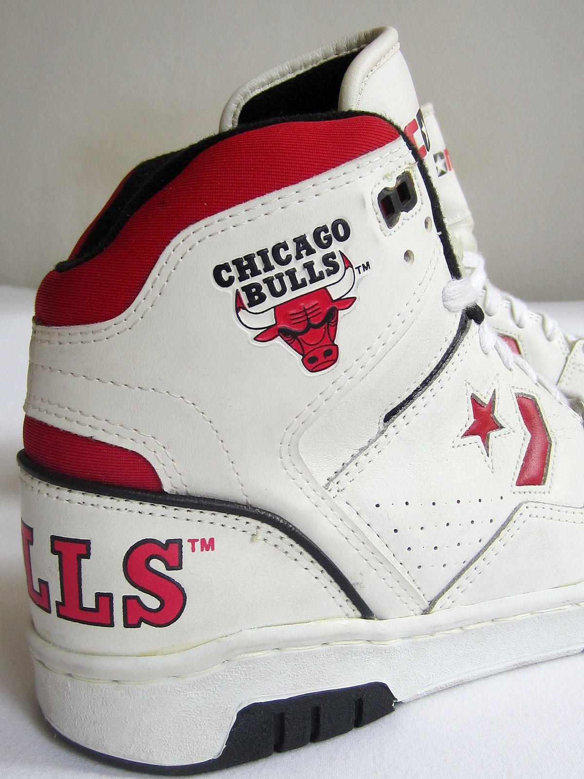 converse chicago bulls hi 1990 nba new tag box og vintage