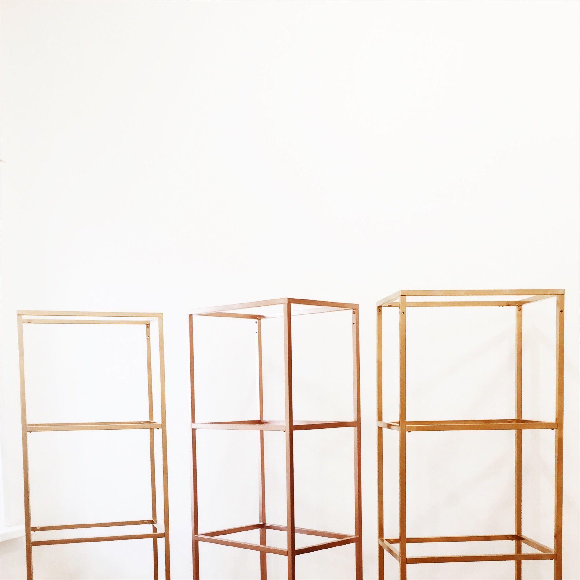 стеллажи IKEA покрашенные в золотистый цвет / шоурум ...