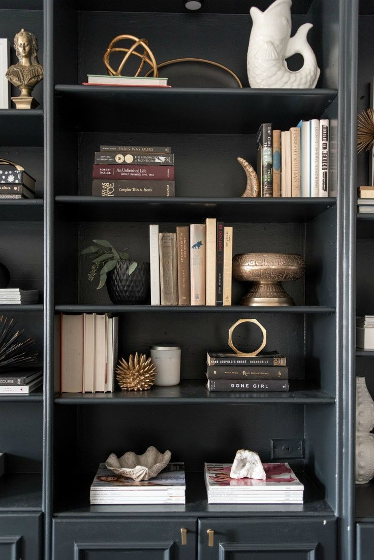 very inspiring and creative bookshelf decorating ideas black