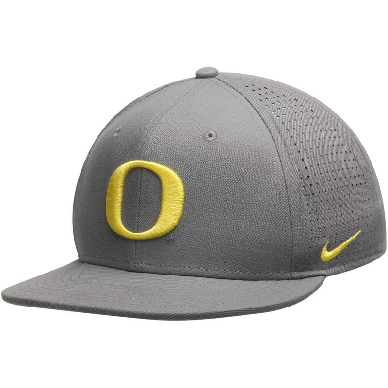 Oregon Ducks Nike True College Authentic Performance Vapor Fitted Hat - Gray 73ef5cc5816