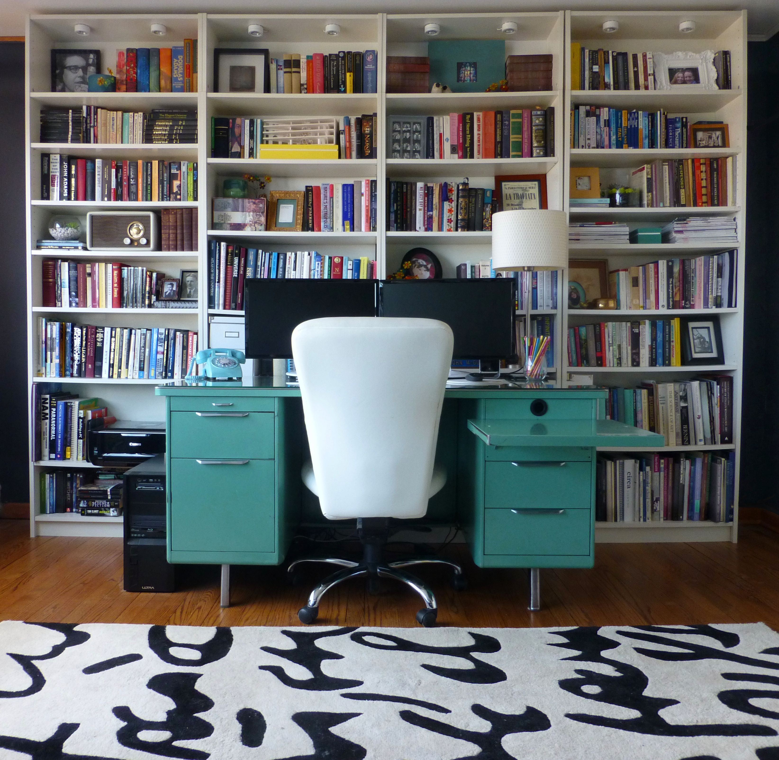 Melinda May Design. Home Office, Spare Bedroom. Budget