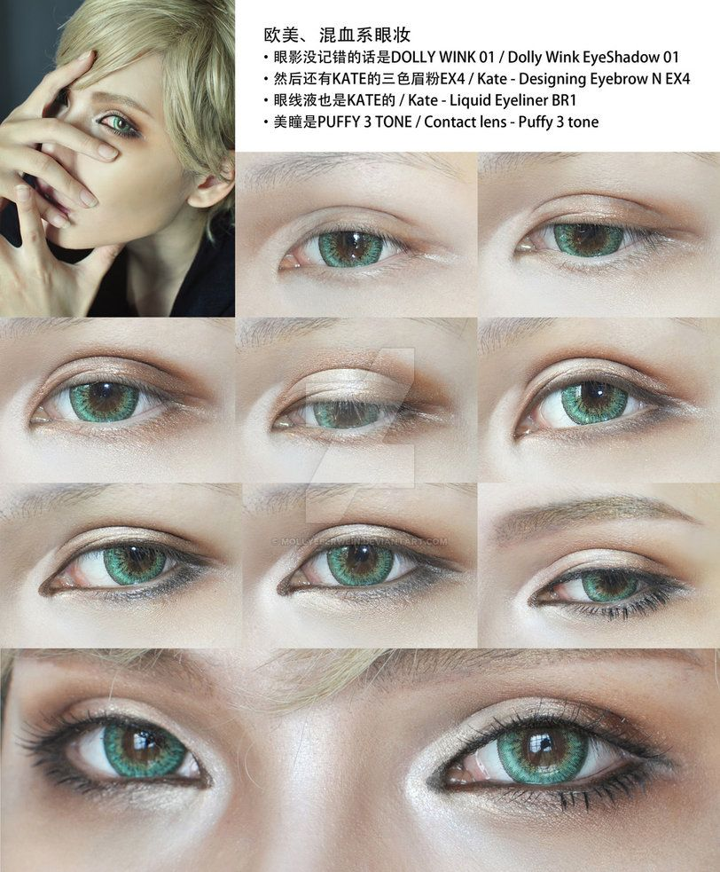 Cosplay Eyes Makeup For Male Character Cosplay Makeup Tutorial Anime Eye Makeup Anime Makeup