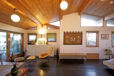 Ceiling Remodel From Flat To Cathedral Google Search Ceiling Remodel Home Ceiling House Cladding