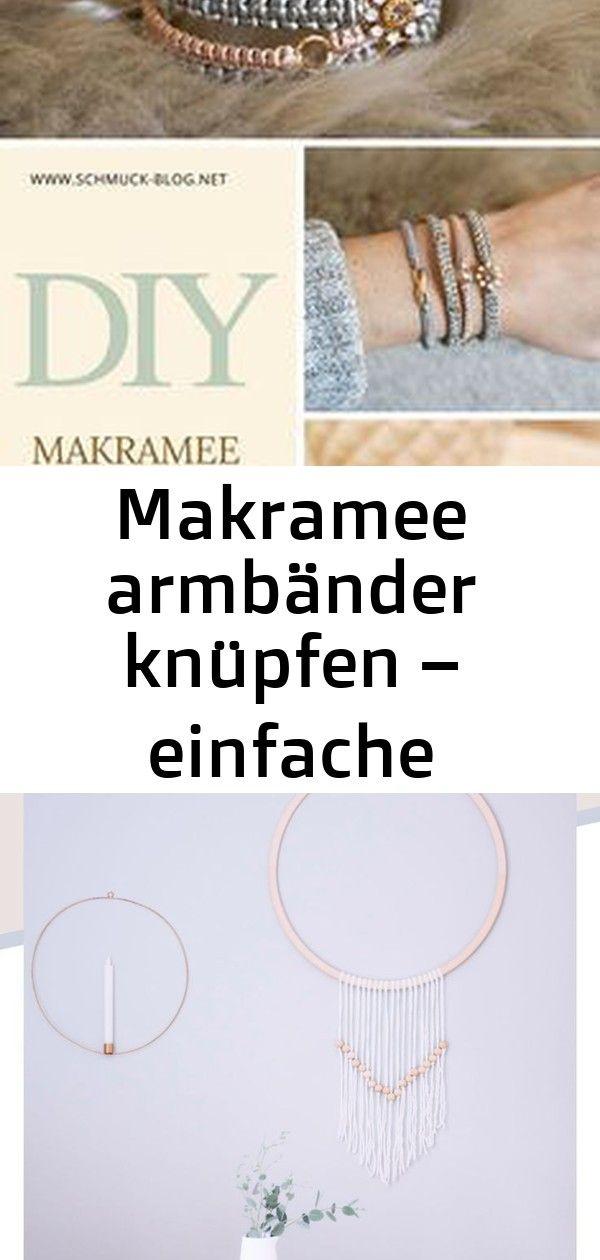 Makramee armbänder knüpfen – einfache anleitung 396 #wanddekoselbermachen