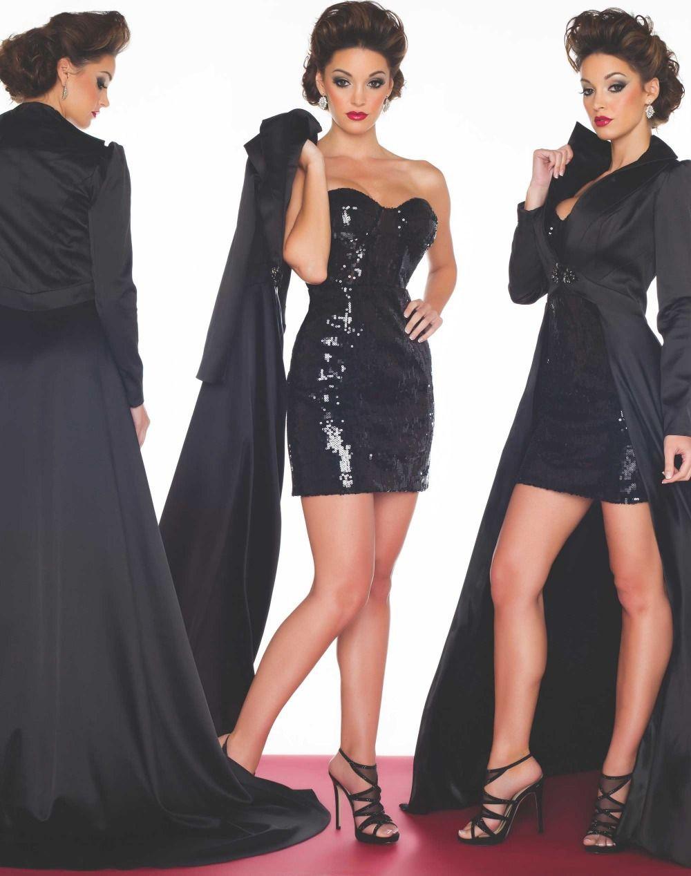 Prom dress jacket long tail beautiful dresses pinterest