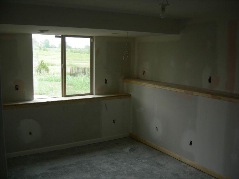 Basement ledges wall how to make basement window sills for Daylight basement windows