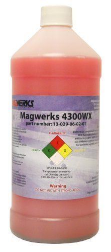Case of Magwerks 4300WX Water-Based Pre-Mix Bath by Magwerks. $198.00. Magwerks 4300WX is a concentrated bath preparation intended to be used with water for use in the magnetic particle inspection process.