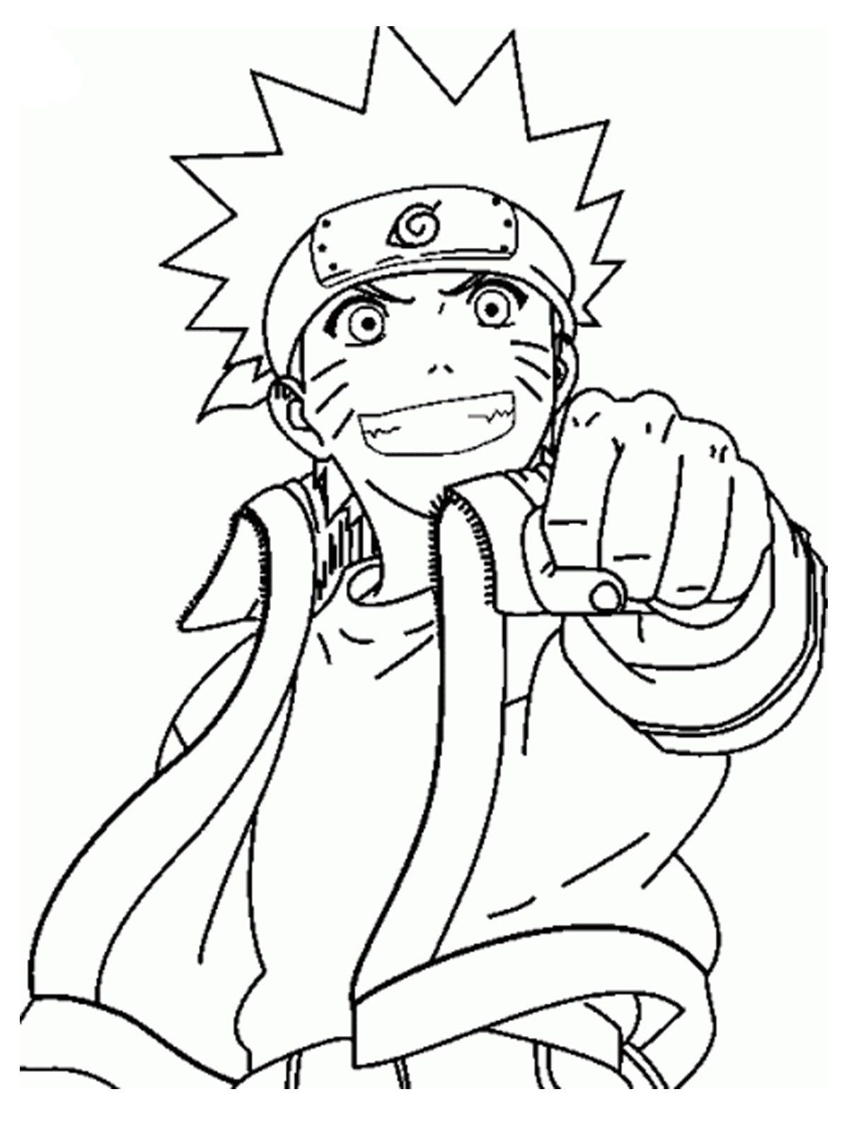 Valentines Coloring Sheet For Older Children. Naruto