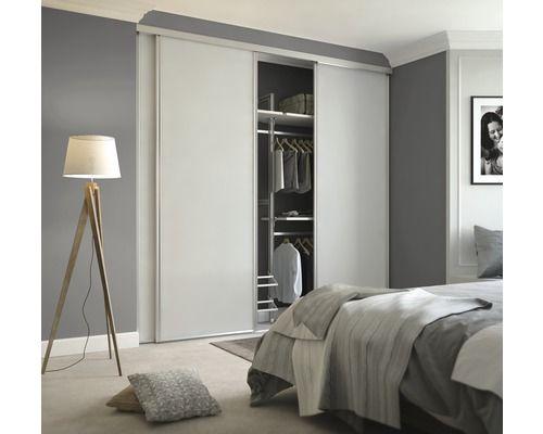 schiebet r bausatz spacepro platin wei 2600x762 mm inkl. Black Bedroom Furniture Sets. Home Design Ideas