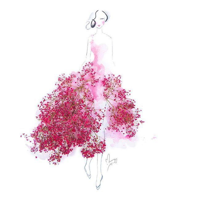 寿命があるからこそ、より一層美しい。「本物の花びら」で作るドレス