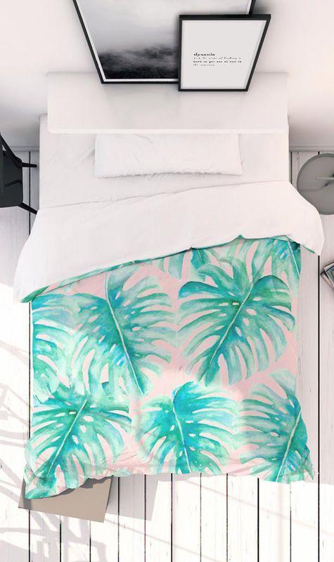 Best Paradise Palm Blush As Bed Linen By Jacqueline Maldonado 640 x 480