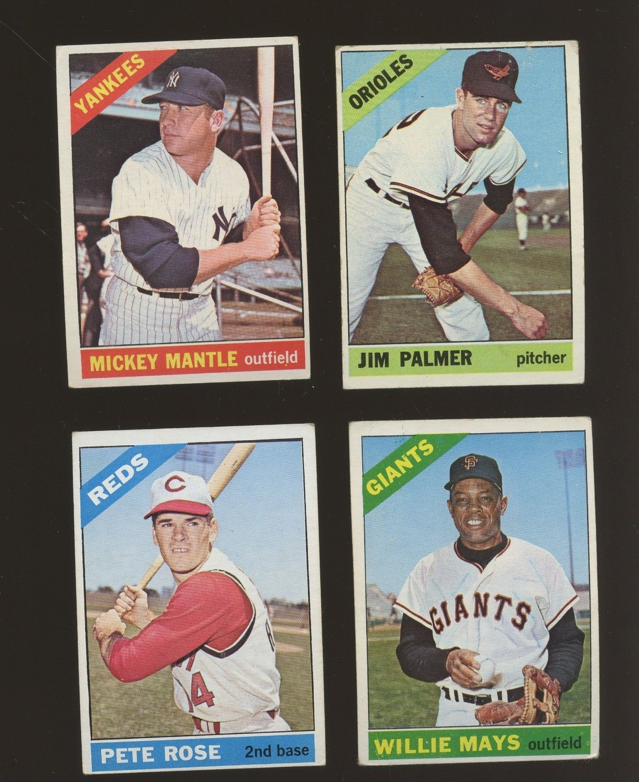1966 Topps Baseball Complete Set 598 W Koufax Banks Mays