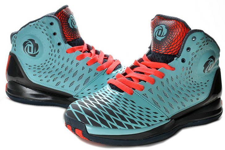 hot sale online 36f25 afb43 Derrick Rose 2013 AdiZero Rose 3.5 Spider Man Medium Turquoise Red for sale