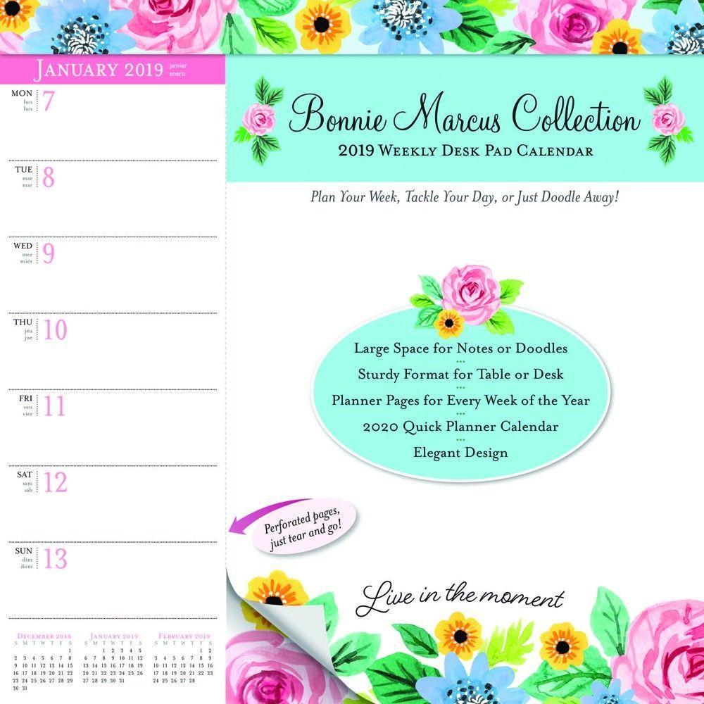 Bonnie Marcus 2019 10 X 10 Inch Weekly Desk Pad Calendar Fashion Designer Stationery Isbn 978 1 4650 7849 0 Desk Calendar Pad Planner Pages Calendar Pad