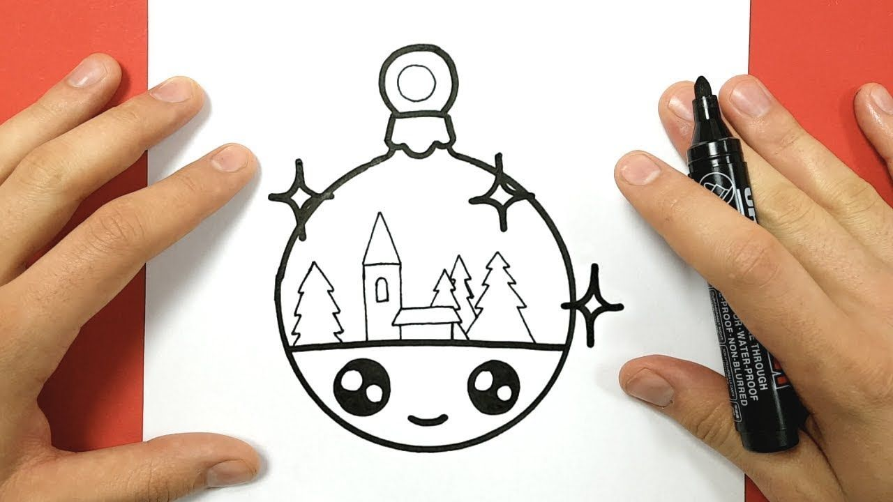 How To Draw A Christmas Ornament Cute And Easy With Images