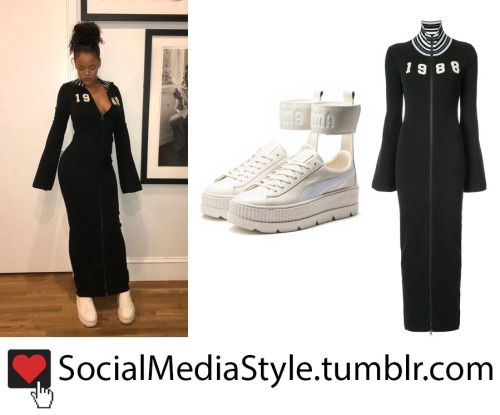 695f0338bfd2 Buy Rihanna s Fenty x Puma 1988 Zip Up Dress and White Ankle-Strap Platform  Sneakers