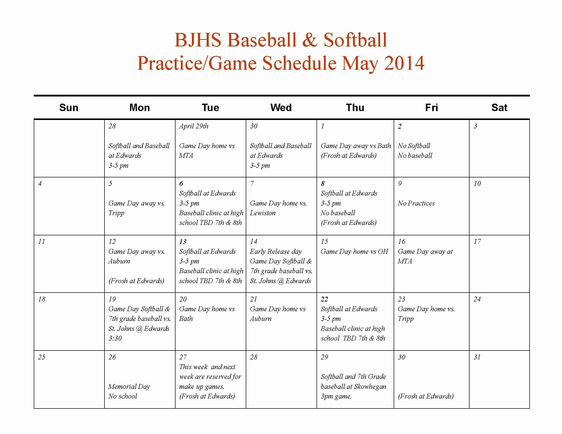 Youth Football Practice Schedule Template Beautiful 010
