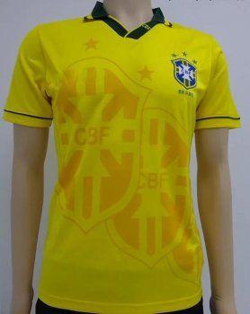 1994 retro brazil soccer team home replica football shirt j00409 the new spain 2014 world cup