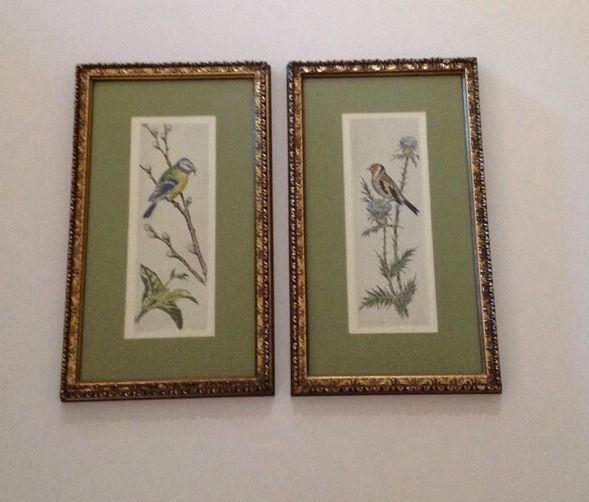 Pr Vintage Turner Wall Accessory Art Framed Signed Print Prints ...