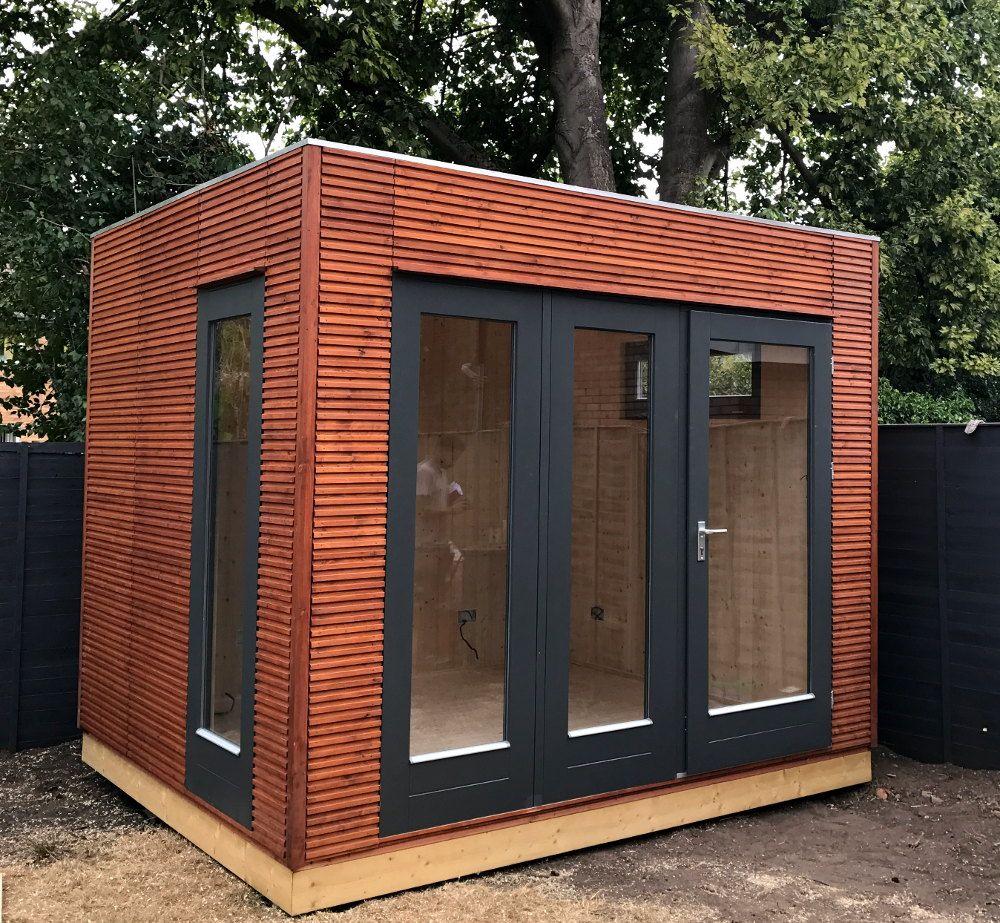 Linea Garden Office Or Studio, No Roof Overhang Means You