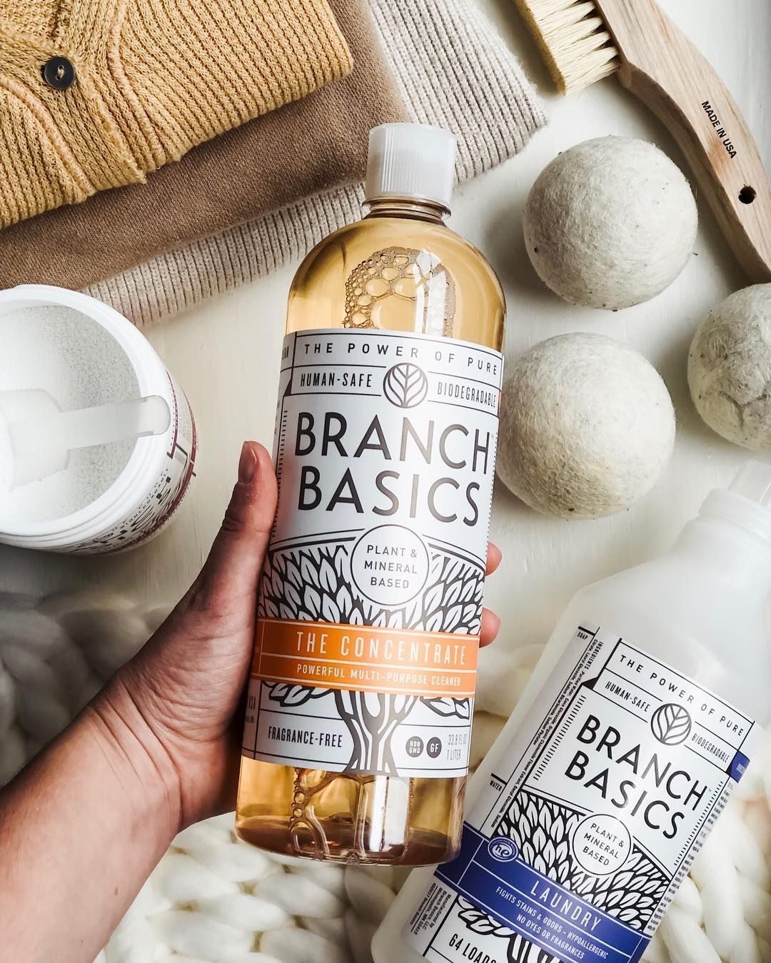 This Concentrate Is Our Laundry Detergent All Purpose Cleaner Fruit And Veggie Wash Stain Re Natural Cleaning Products Fragrance Free Products Branch Basics