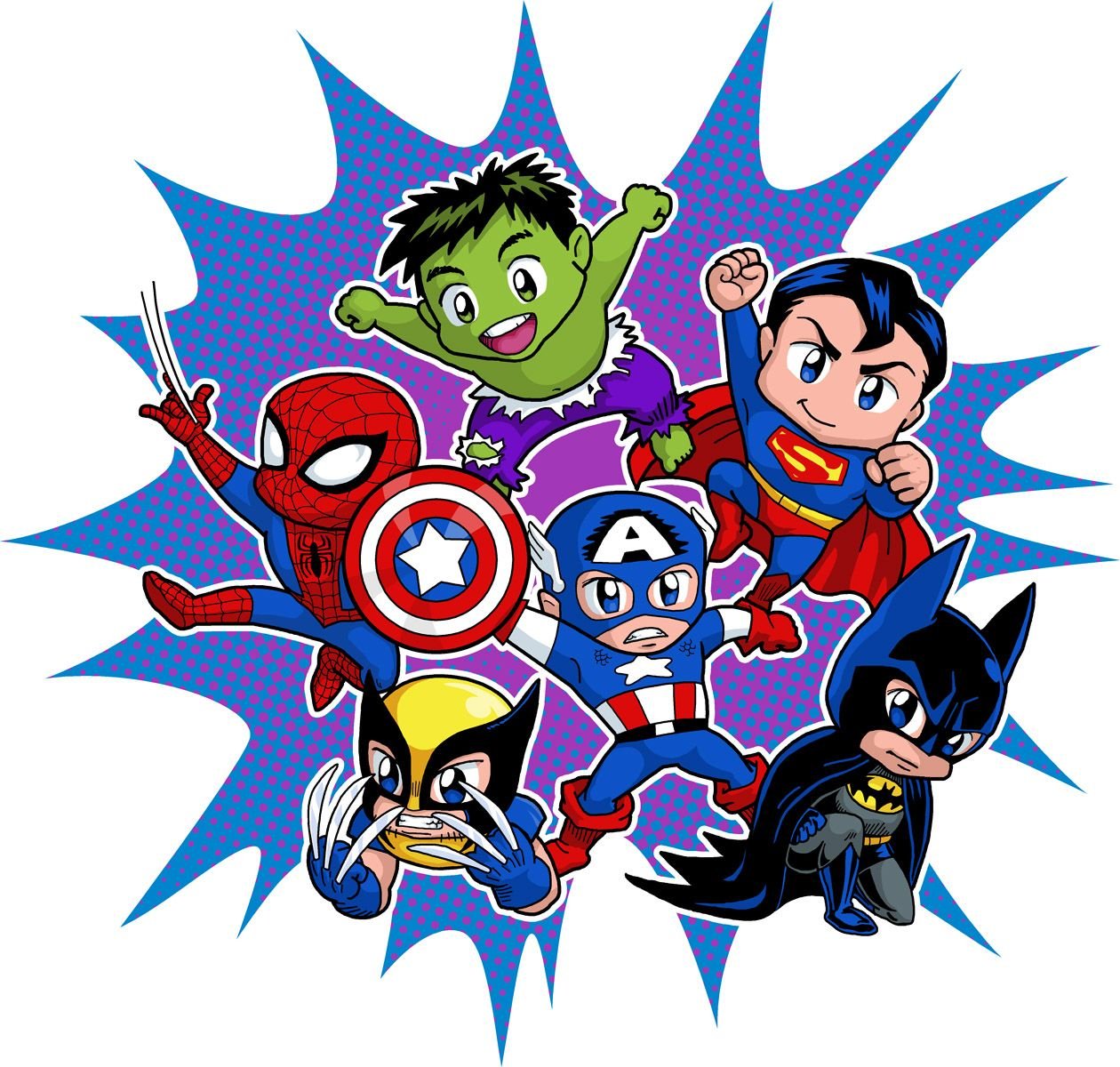 Chibi Heroes By Real Warner On Deviantart Baby Superhero Baby Avengers Baby Marvel