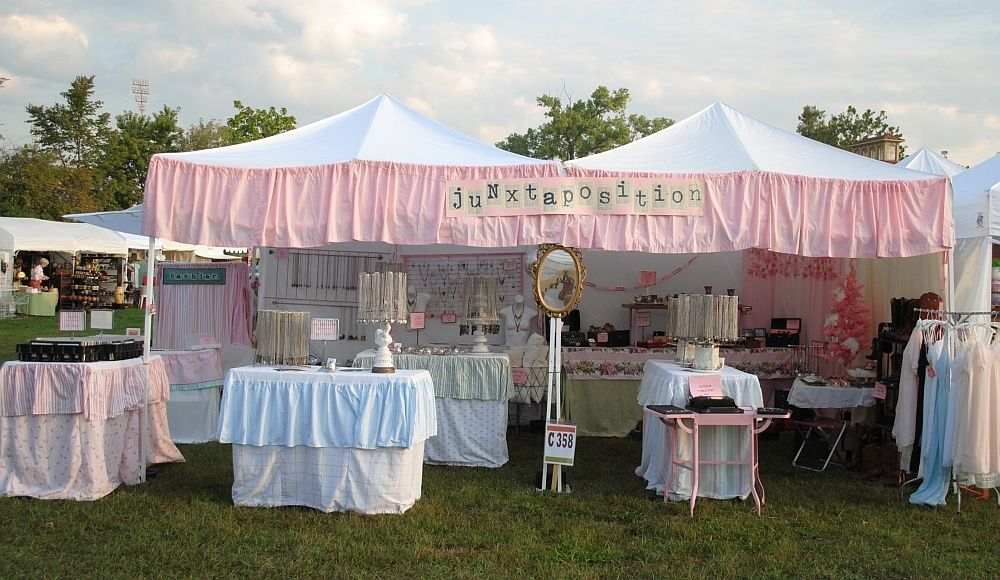 Cute way to join two pop-up tents.